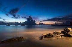 The Sun sety w świętym Lucia Fotografia Stock