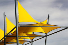 Sun Shade Sails Royalty Free Stock Photo