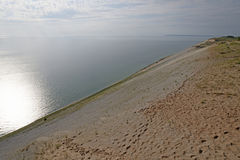 Sun and Shade on the Sand Dune on a Lakeshore Stock Images