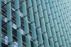 Sun Shade Wall Facade. On the north Side of the Federal Building, San Francisco, CA stock image