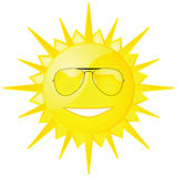 Sun with shades Stock Photos