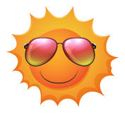 A sun with shades Royalty Free Stock Photo