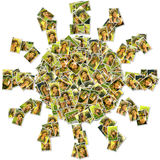 Sun shape collage Royalty Free Stock Image