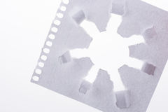 Sun shape paper. Sun shape made through torn paper in white background Royalty Free Stock Images