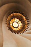 Sun-shaped ceiling lamp in Casa Batllo, Barcelona Royalty Free Stock Images
