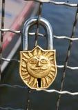 Sun-shaped padlock Royalty Free Stock Photos