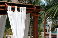 Sun Shelter Curtain Royalty Free Stock Photo