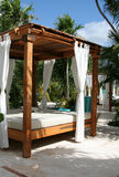 Sun Shelter Resort Bed Stock Image