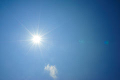 Sun shine in blue sky Stock Image