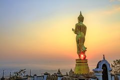 Sun shine buddha Stock Images