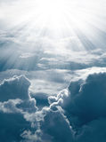 Sun shine on cloud. Sun shine on dark cloud Royalty Free Stock Photo