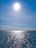 Sun shine on the horisont sea Royalty Free Stock Image