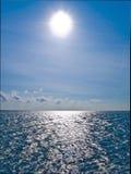 Sun shine on the horisont sea.  Royalty Free Stock Image