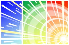 Sun shine illustration Royalty Free Stock Images
