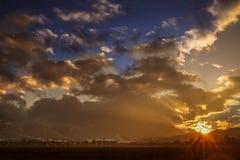 Sun shine mountains Carpathians,. The first beams of a rising sun shine mountains Carpathians Royalty Free Stock Image