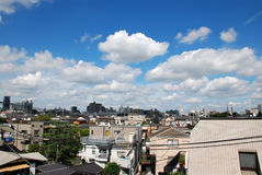 Sun shine on the nakano area. Beautiful cloud and sky Royalty Free Stock Images