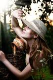 Sun shine summer outdoor. Glamour woman under sun shine summer outdoor Royalty Free Stock Image