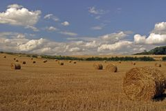 While The Sun Shines. Making hay while the sun shines. Nottinghamshire, England Royalty Free Stock Photos