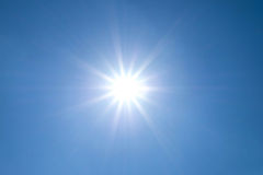 Sun shines bright in the daytime in summer Stock Photos