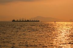Sunrise at the sea Stock Photography