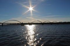 The sun shines over Bergnäsbron Royalty Free Stock Image