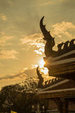 Sun shines through the thai temple, Thailand Stock Photos