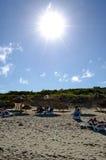 Sun is shining on the beach Stock Photography