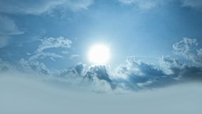 The Sun Shining from behind Clouds / Glowing Rays. stock footage