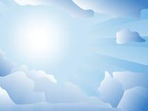 Sun is shining through the clouds Stock Photos