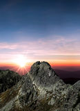 Sun is shining over the mountain Royalty Free Stock Image