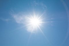 The sun shining Royalty Free Stock Image
