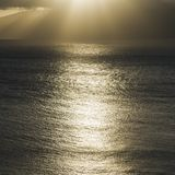 Sun shining on Pacific ocean. Royalty Free Stock Photo
