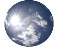 Sun Shining in Round Blue Sky Stock Image