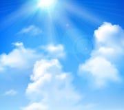 Sun Shining In Sky Stock Image