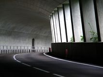Tunnel road in Alps Royalty Free Stock Photo