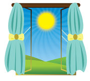 Sun shining, vector Royalty Free Stock Photo