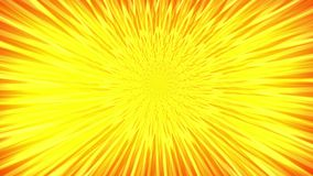 Sun shinning hot. Animation of abstraction light tunnel. Abstract motion background with rays of yellow and red light.