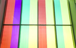 Colour window. The sun shone through the colour glass doors and windows Stock Image