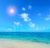 Sun by the shore Stock Photography