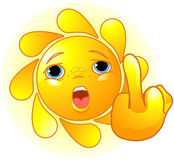 Sun Shows a Middle Finger Royalty Free Stock Photo