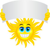 Sun with sign Royalty Free Stock Image