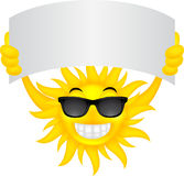 Sun with sign Royalty Free Stock Images