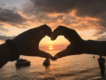 View. Sunset in my heart royalty free stock images