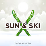 Sun & Ski and sun Royalty Free Stock Photos