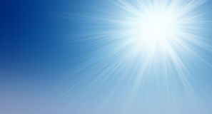 Sun in the sky Royalty Free Stock Photography
