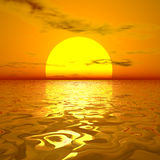 Sun and sky. Beautiful sun and sky 3d render Royalty Free Stock Photos