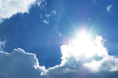 Sun on the sky Royalty Free Stock Photography