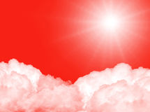 Sun in the sky Royalty Free Stock Photos