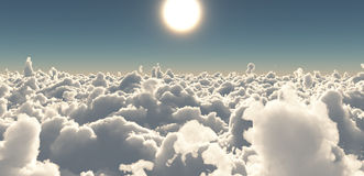 Sun and sky above the clouds Stock Image