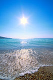 Sun in  sky above sea Royalty Free Stock Images